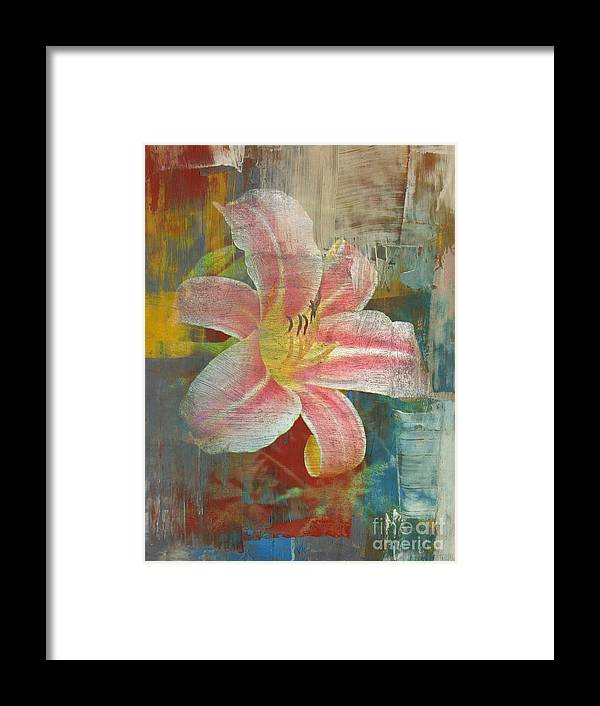 Flowers Framed Print featuring the digital art Day Lily by Irina Hays