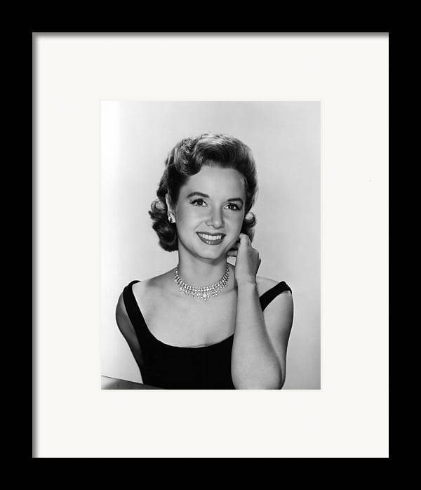 Necklace Framed Print featuring the photograph Debbie Reynolds, 1956 by Everett