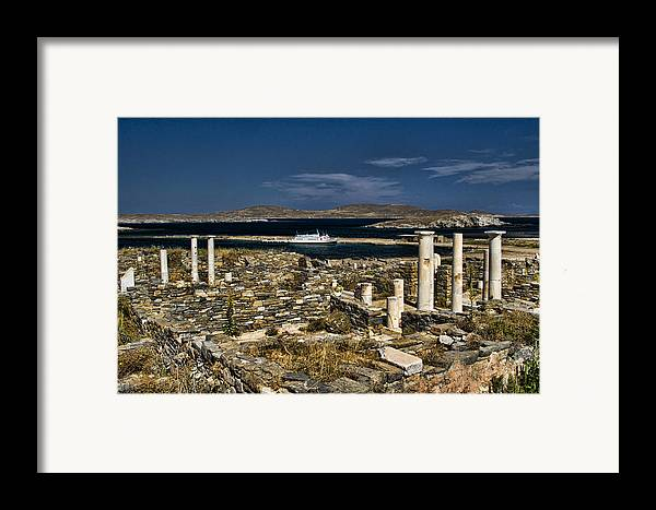 Delos Framed Print featuring the photograph Delos Island by David Smith