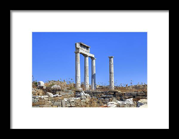 Delos Framed Print featuring the photograph Delos by Joana Kruse