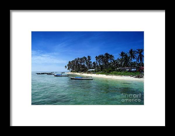 Island Framed Print featuring the photograph Derawan Island by Antoni Halim