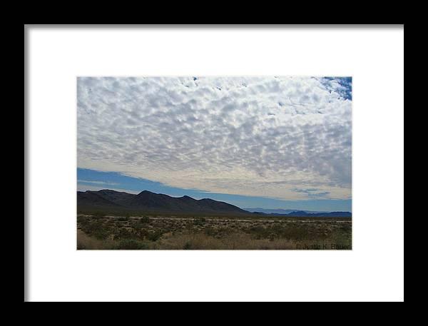 Desert Framed Print featuring the photograph Desert Clouds by Justin Bauer