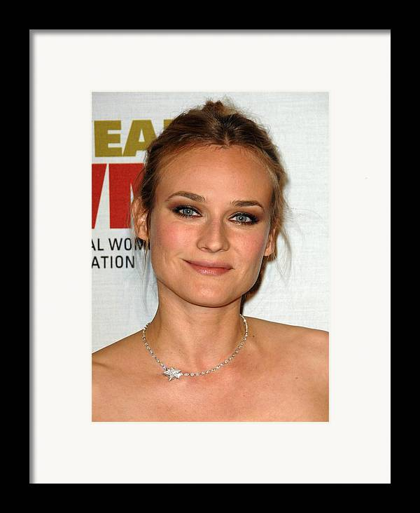 Diane Kruger Framed Print featuring the photograph Diane Kruger At Arrivals For The by Everett