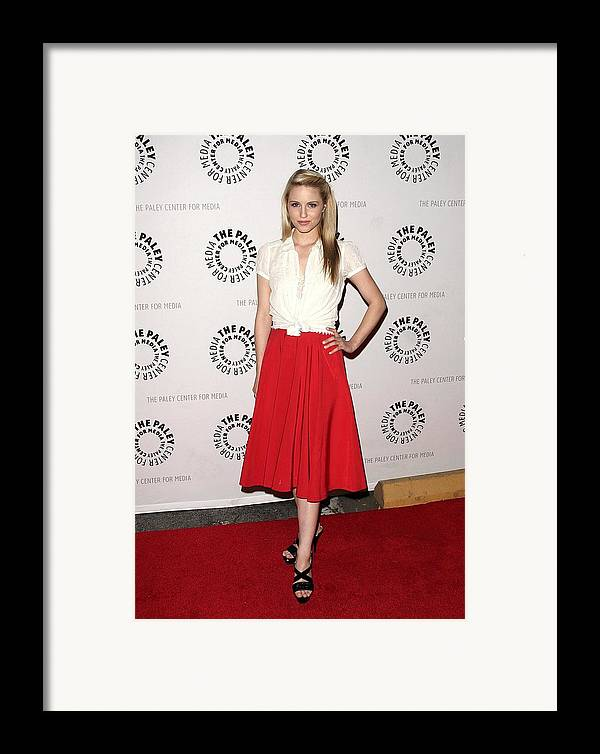 Dianna Agron Framed Print featuring the photograph Dianna Agron At Arrivals For Glee by Everett