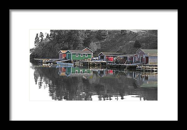 Dildo Framed Print featuring the photograph Dildo Newfoundland by Gord Patterson