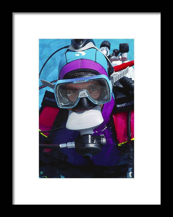 Scuba Framed Print featuring the photograph Diver Communication System by Alexis Rosenfeld