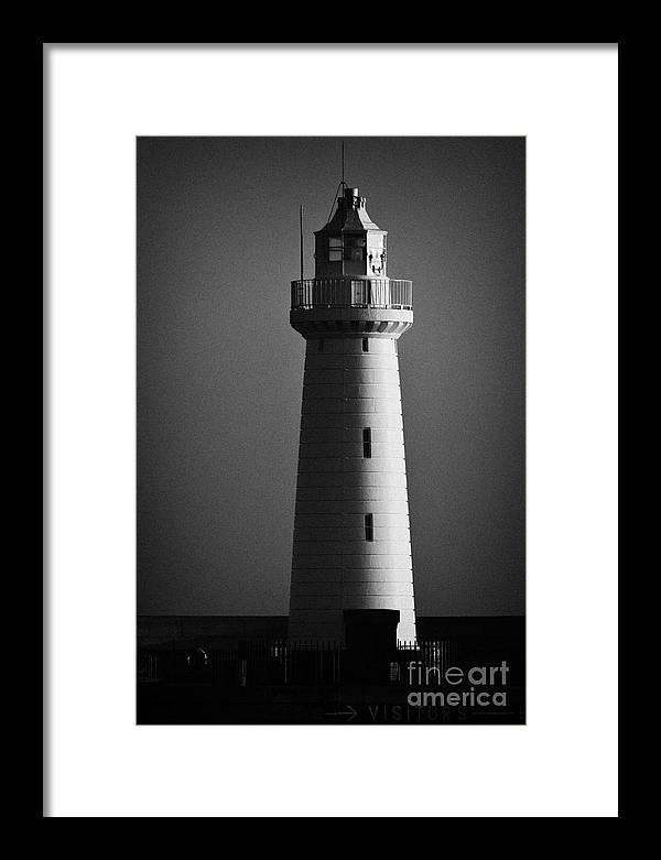 Northern Ireland Framed Print featuring the photograph Donaghadee Lighthouse by Joe Fox