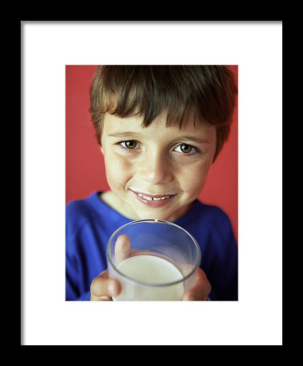 Drink Framed Print featuring the photograph Drinking Milk by Ian Boddy