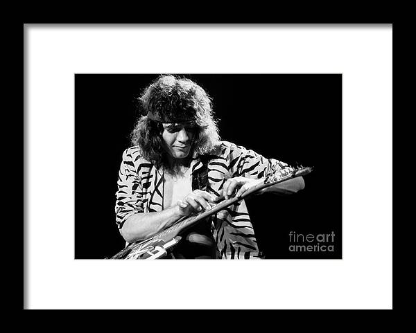 Van Halen Framed Print featuring the photograph Eddie Van Halen 1984 by Chris Walter