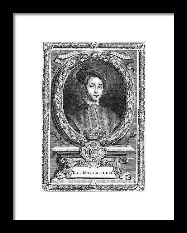 16th Century Framed Print featuring the photograph Edward Vi (1537-1553) by Granger