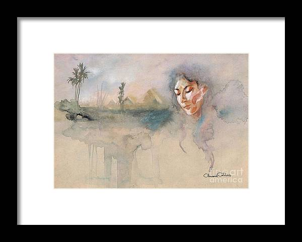 Oriental Paintings Framed Print featuring the painting Egyptian Dream 1 by Ahmed Abbas