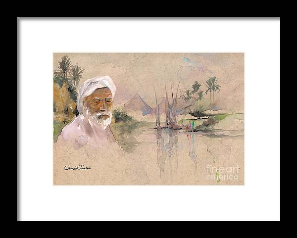 Oriental Paintings Framed Print featuring the painting Egyptian Dream 2 by Ahmed Abbas