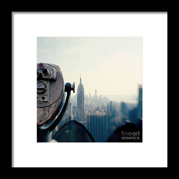 Nyc Framed Print featuring the photograph Empire State Building NYC by Kim Fearheiley