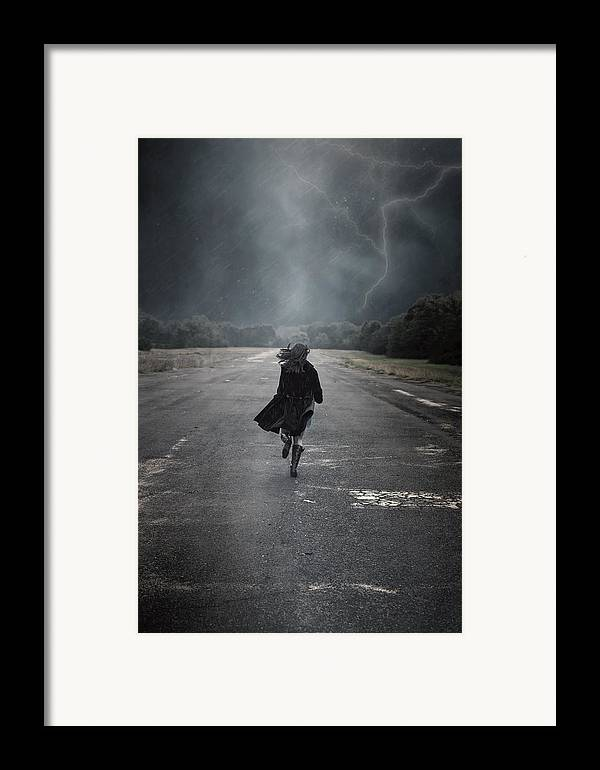 Female Framed Print featuring the photograph Escape by Joana Kruse