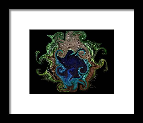 Peacock Feather Framed Print featuring the photograph Eye Of The Peacock by Yvette Pichette