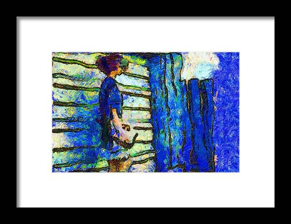 Impressionist Fashion Painting Framed Print featuring the painting Fashion 411 by Jacques Silberstein