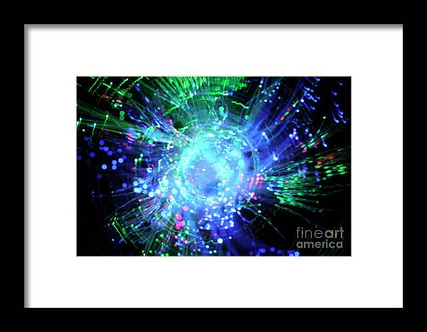 Motion Framed Print featuring the photograph Fiber Optic Swirl by Sami Sarkis