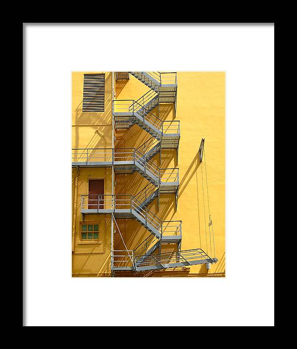 Fire Framed Print featuring the photograph Fire Escape by Rudy Umans