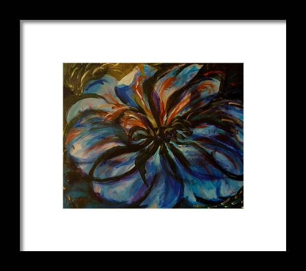 Flower Framed Print featuring the painting Flower Explosion by MayLill Tomlin