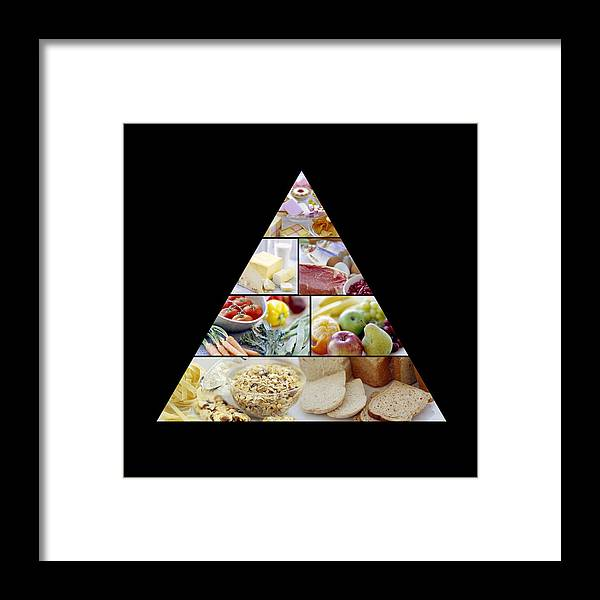Food Framed Print featuring the photograph Food Pyramid by David Munns