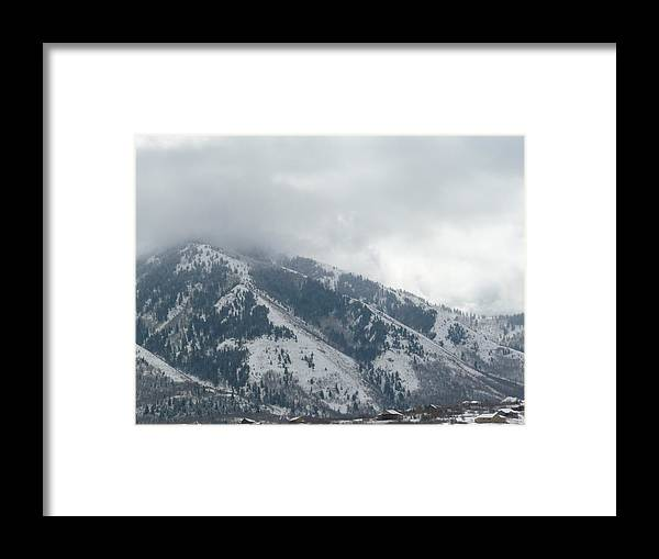 Landscape Framed Print featuring the photograph Foothills by Angela Hansen