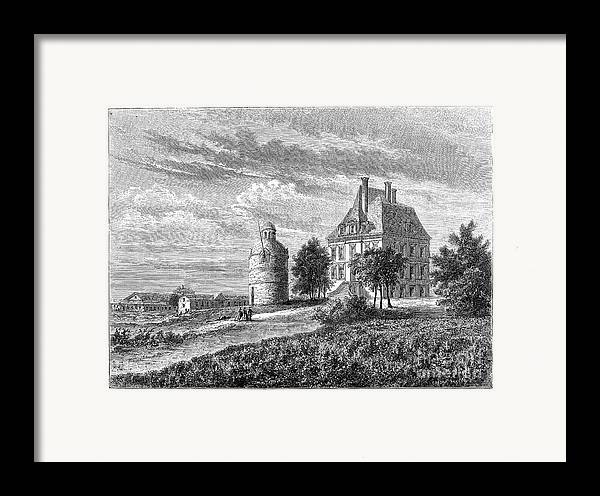 1868 Framed Print featuring the photograph France: Wine Ch�teau, 1868 by Granger