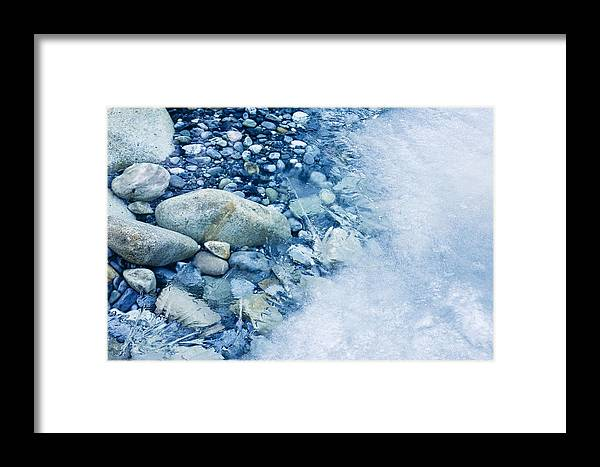 Ice Framed Print featuring the photograph Freezing River by Jeremy Walker