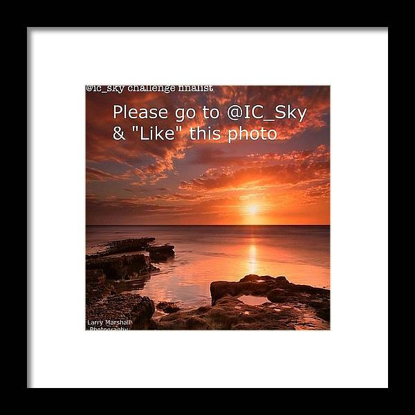 Framed Print featuring the photograph Friends…...i Have A Photo In The by Larry Marshall