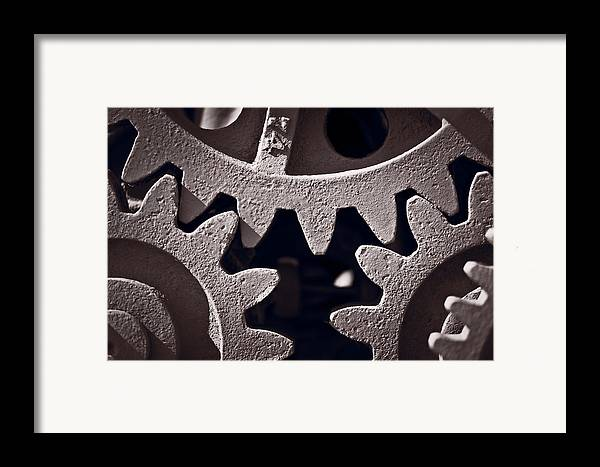 Gear Framed Print featuring the photograph Gears Number 2 by Steve Gadomski