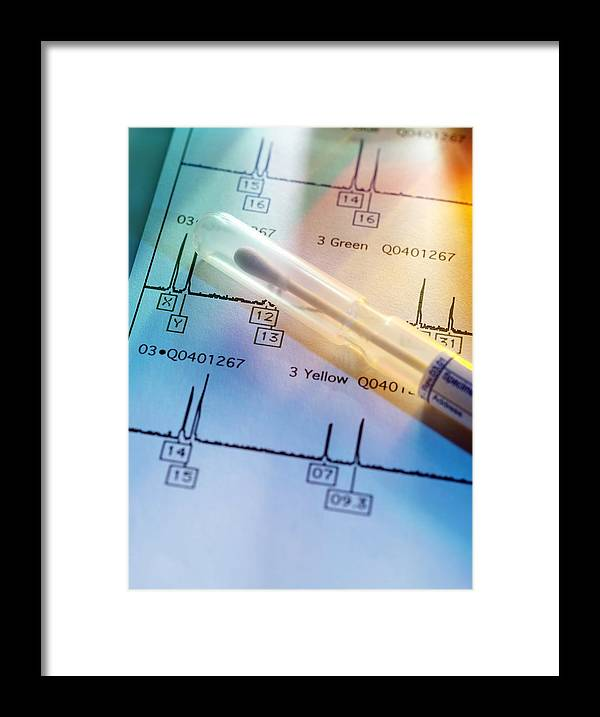Analysis Framed Print featuring the photograph Genetic Testing by Tek Image