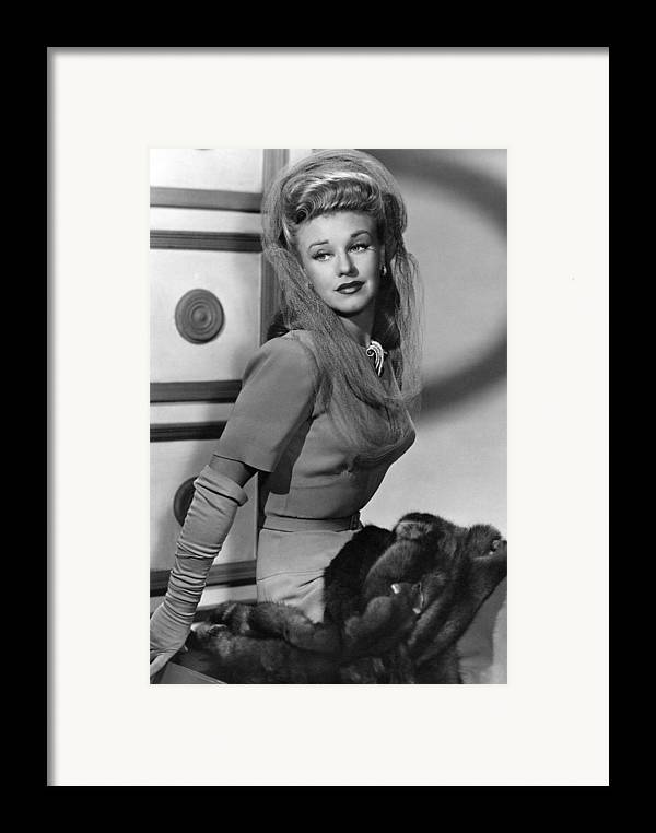 11x14lg Framed Print featuring the photograph Ginger Rogers, Ca. 1943 by Everett