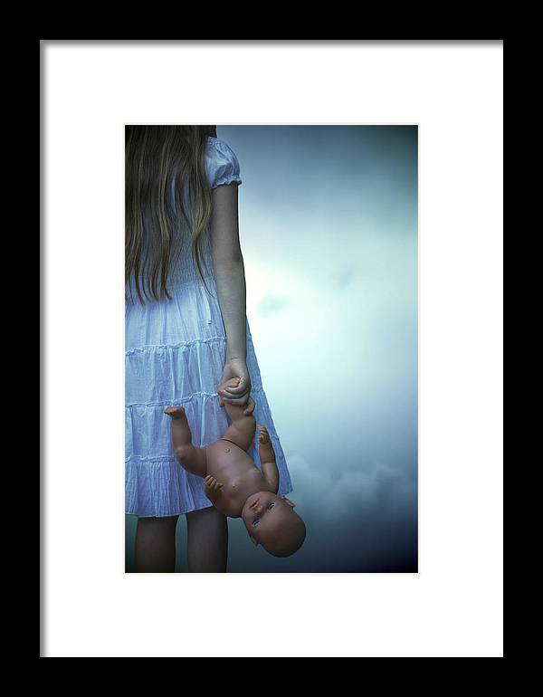 Girl Framed Print featuring the photograph Girl With Baby Doll by Joana Kruse