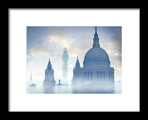 Building Framed Print featuring the photograph Global Warming by Tim Vernon, Lth Nhs Trust
