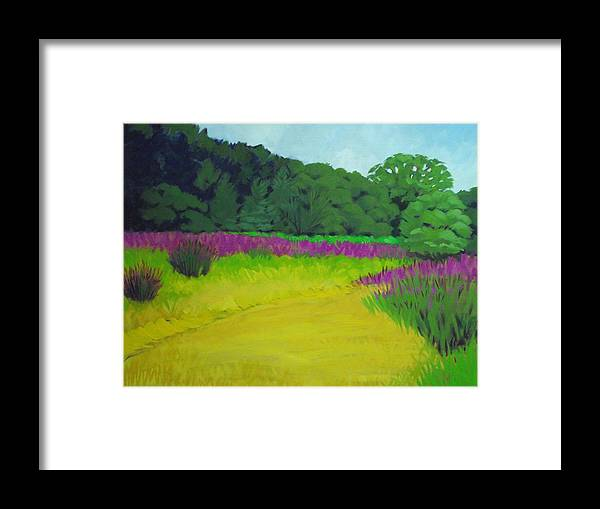 Fall Meadow Framed Print featuring the painting Golden Meadow by Robert Rohrich