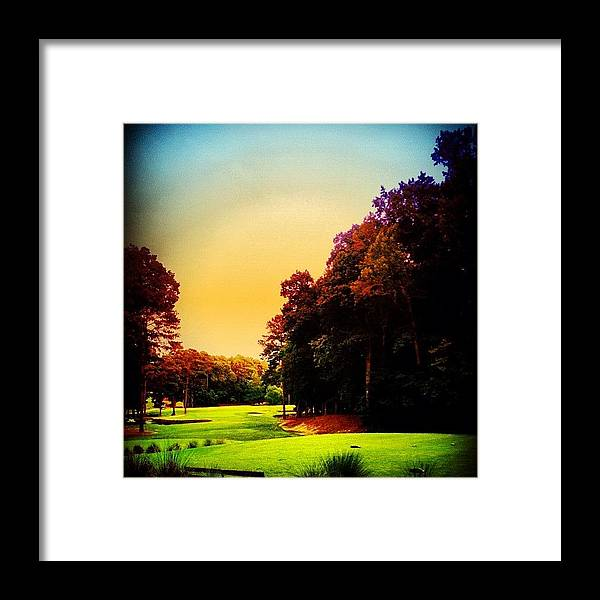 Blue Framed Print featuring the photograph Golf by Katie Williams