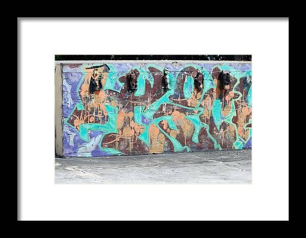 Graffiti Framed Print featuring the photograph Graffiti by Rob Hans