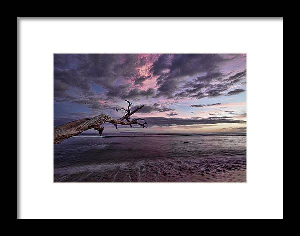 Maui Hawaii Ebb Flow Beach Clouds Sunset Framed Print featuring the photograph Grandpa's by James Roemmling
