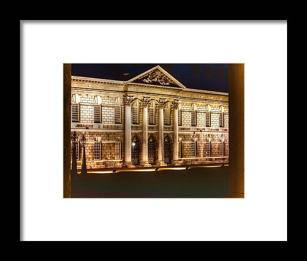 Greenwich Framed Print featuring the photograph Greenwich Royal Naval College Hdr by David French