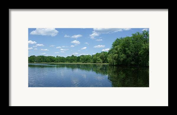 Water Framed Print featuring the photograph Harris Pond by Anna Villarreal Garbis