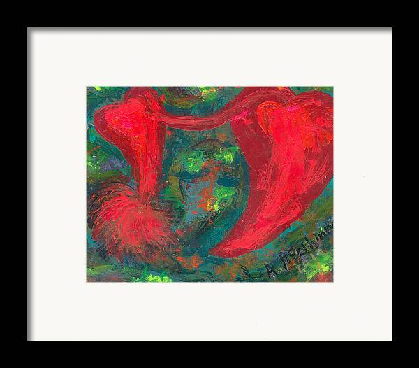 Women Framed Print featuring the painting Have Hope In Your Heart by Annette McElhiney