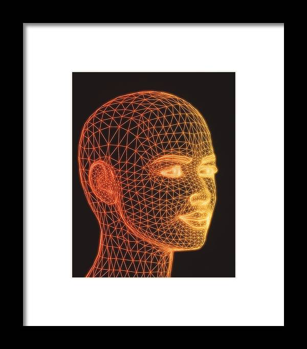 Wire-frame Framed Print featuring the photograph Head by Pasieka