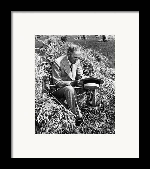 Contemplative Framed Print featuring the photograph Henry Ford, 1863-1947 by Everett