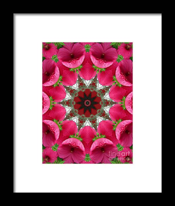 Digital Design Framed Print featuring the photograph Hibiscus by Mark Gilman