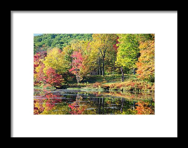 Landscape Framed Print featuring the photograph Hideaway by Tom Heeter