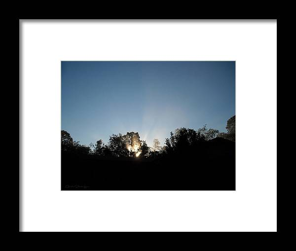 Silhouette Framed Print featuring the photograph Home Sweet Home by Christine Stonebridge
