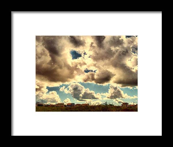 Sky Framed Print featuring the photograph Hometown by Beto Machado