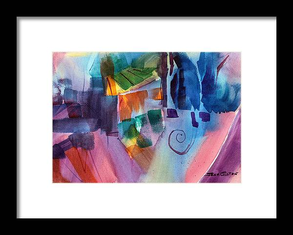 Abstract Watercolor Framed Print featuring the painting Huh. by Josh Chilton