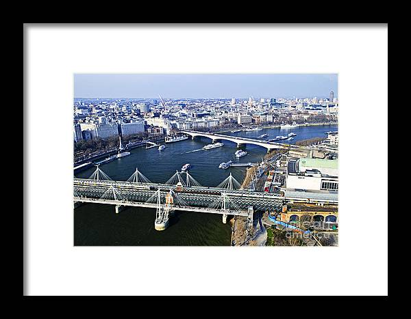 Hungerford Framed Print featuring the photograph Hungerford Bridge Seen From London Eye by Elena Elisseeva