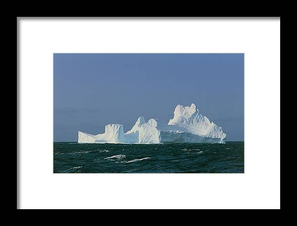 Ice Framed Print featuring the photograph Iceberg by Peter Scoones
