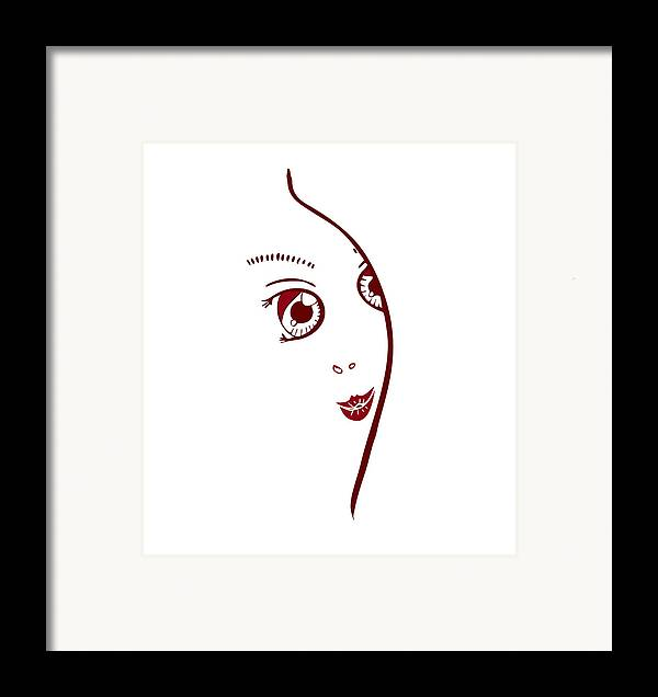 Fashion Framed Print featuring the painting Illustration Of A Fashion Model by Frank Tschakert